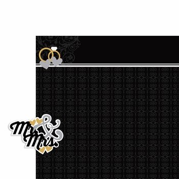 Wedding: Mr. and Mrs. 2 Piece Laser Die Cut Kit
