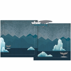 Whale Watching Double Page Layout Kit