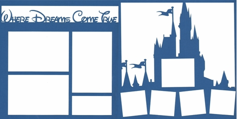 Where Dreams Come True Double 12 x 12 Overlay Laser Die Cut