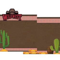 Wild West Double Page Layout Kit