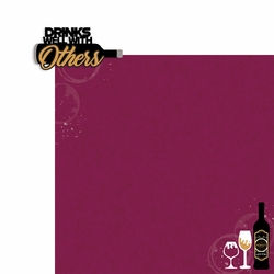 Wine: Drinks well with Others 2 Piece Laser Die Cut Kit