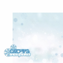 Winter: Catching Snowflakes 2 Piece Laser Die Cut Kit