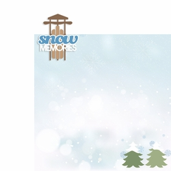 Winter: Snow Memories 2 Piece Laser Die Cut Kit
