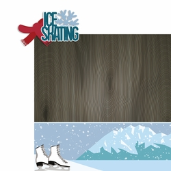 Winter Sports: Ice Skating 2 Piece Laser Die Cut Kit