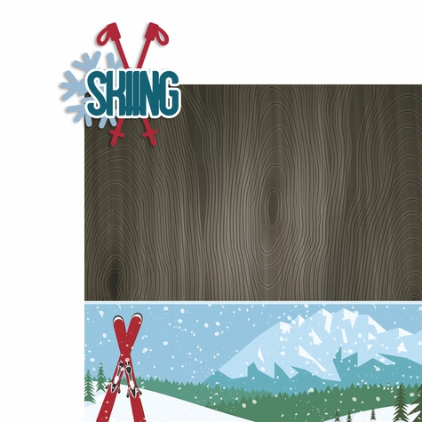 Winter Sports: Skiing 2 Piece Laser Die Cut Kit