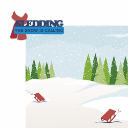 Winter Sports: Sledding 2 Piece Laser Die Cut Kit