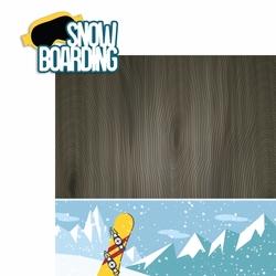 Winter Sports: Snow Boarding 2 Piece Laser Die Cut Kit
