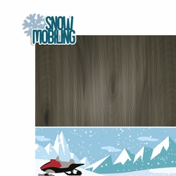 Winter Sports: Snow Mobiling 2 Piece Laser Die Cut Kit