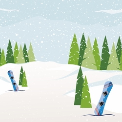 Winter Sports: Snowboarding 12 x 12 Paper