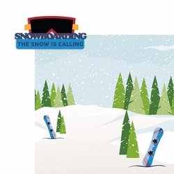 Winter Sports: Snowboarding 2 Piece Laser Die Cut Kit