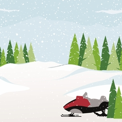Winter Sports: Snowmobiling 12 x 12 Paper