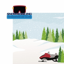 Winter Sports: Snowmobiling 2 Piece Laser Die Cut Kit