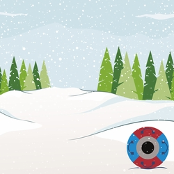Winter Sports: Snowtubing 12 x 12 Paper