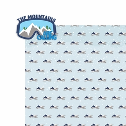 Winter Sports: The Mountains 2 Piece Laser Die Cut Kit