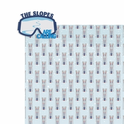 Winter Sports: The Slopes 2 Piece Laser Die Cut Kit