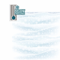 Winter Storm: Below Freezing 2 Piece Laser Die Cut Kit