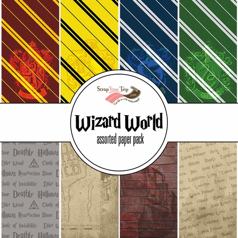Wizard World Assorted 12 x 12 Paper Pack