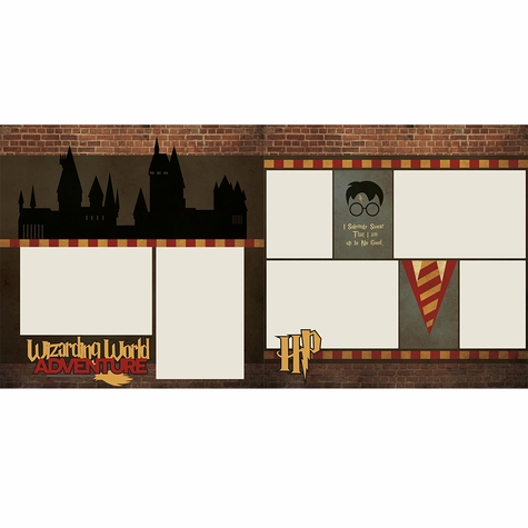 Wizarding World 2 Page Layout Kit