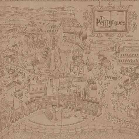 Wizarding World Custom 12 x 12 Paper