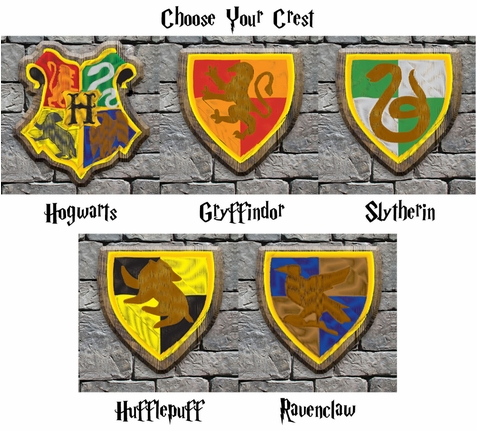 Wizarding World: Great Hall with Crests Custom 12 x 12 Paper