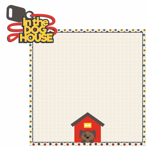 Woof: In the dog house 2 Piece Laser Die Cut Kit