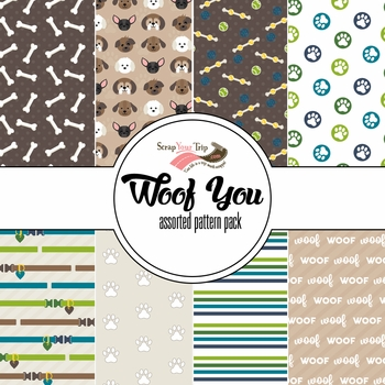 Woof You Assorted 12 x 12 Paper Pack