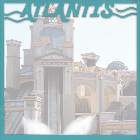 World Of The Sea: Atlantis 12 x 12 Overlay Quick Page Laser Die Cut