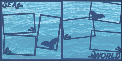 World Of The Sea: Sea World Double 12 x 12 Overlay Quick Page Laser Die Cut