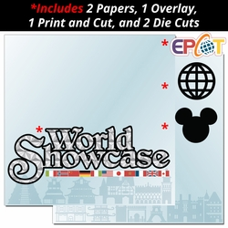 World Showcase 2 Page Print and Cut