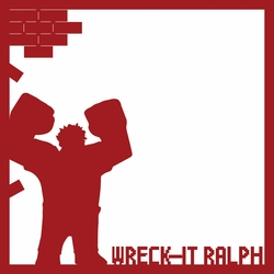 Wreck It Ralph 12 x 12 Overlay Laser Die Cut
