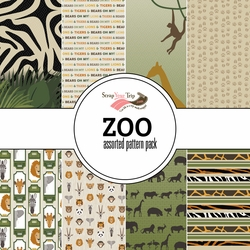 Zoo Assorted 12 x 12 Paper Pack