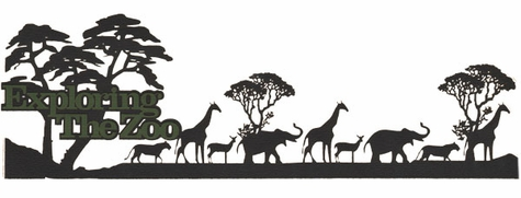 Zoo-fari: Exploring The Zoo Laser Die Cut