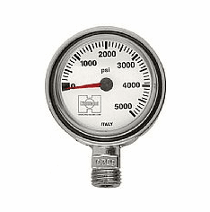 Highland Thin Line Brass and Glass Pressure Gauge (SPG)
