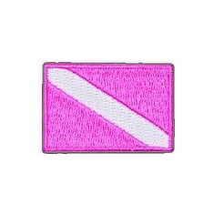Innovative Pink Dive Flag Patch