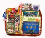 50th Anniversary Gift Basket for 1969