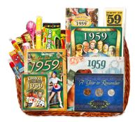 60th Anniversary or Birthday Gift Basket for 1959