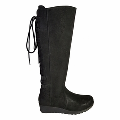 Akins Wide Calf Wide Calf Ladies Boot Black Cow Grain