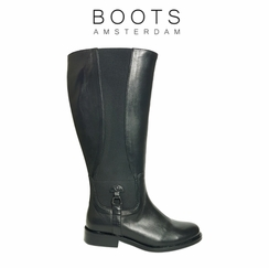 Aldridge Super Wide Calf Ladies Boot Black Nappa
