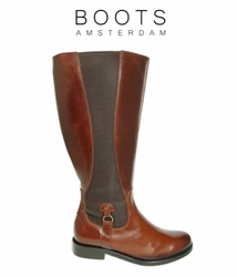 Aldridge Super Wide Calf Ladies Boot Cognac Old Bristol