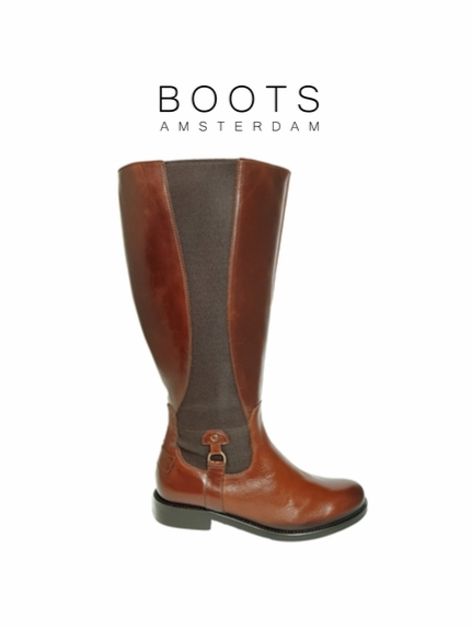 Aldridge Super Wide Calf Super Wide Calf Ladies Boot Cognac Old Bristol