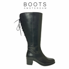 Amble Super Wide Calf Ladies Boot Black Nappa