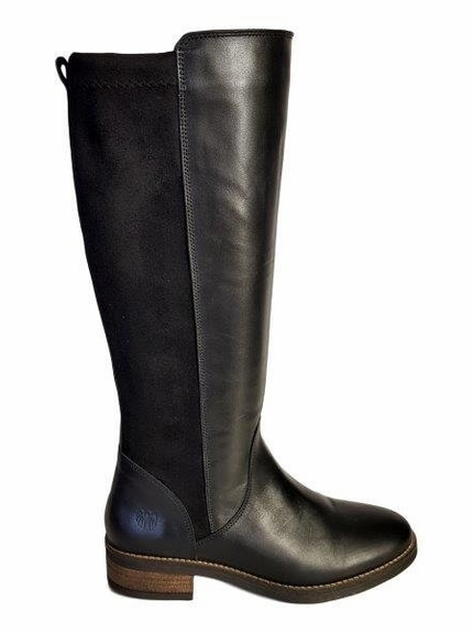 708308b0882 Annfield Extra Wide Calf Ladies Boot Black Nappa Stretch Suede - Wide Calf  Casual Boots