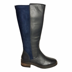 Annfield Extra Wide Calf Extra Wide Calf Ladies Boot Ocean Nappa/Stretch Suede