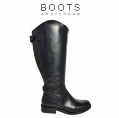 Arnside Super Wide Calf Ladies Boot Black Nappa