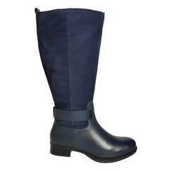 Bayston Extra Wide Calf Ladies Boot Ocean Street/Suede