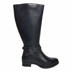 Beccles Extra Wide Calf Extra Wide Calf Ladies Boot Black Silk