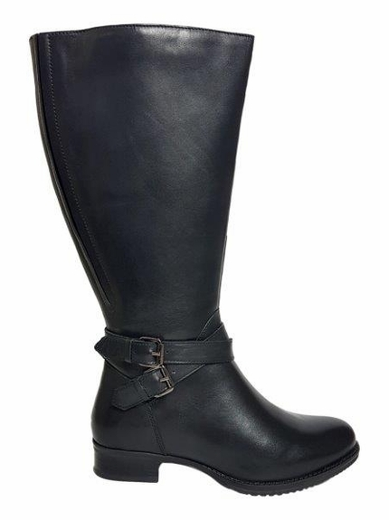 Beccles Extra Wide Calf Ladies Boot Black Silk
