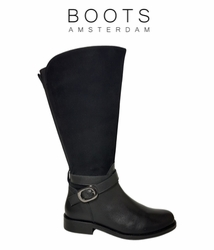 Bellshill Extra Wide Calf Extra Wide Calf Ladies Boot Black Nappa