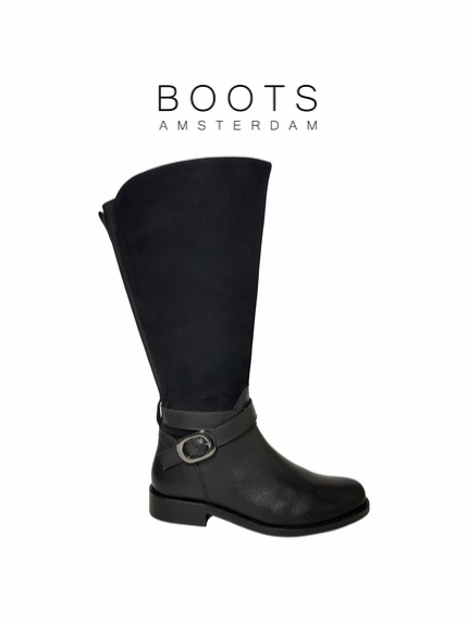 Bellshill Extra Wide Calf Ladies Boot Black Nappa