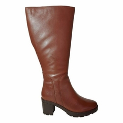 Bredon Extra Wide Calf Ladies Boot Cognac Street
